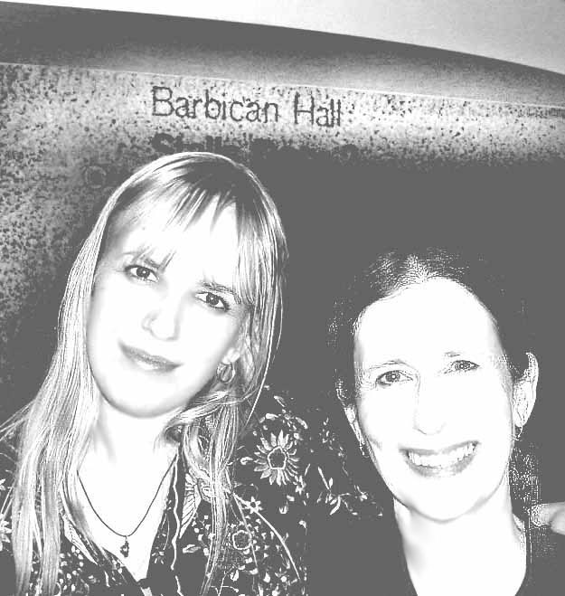 (photo: vocalist and composer Meredith Monk and composer Alexandra du Bois after Kronos Quartet's London premieres of their string quartets at the Barbican. 2004)